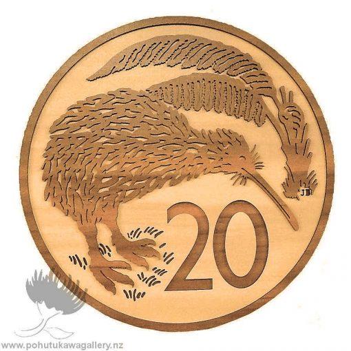 20 Cent Coin NZ wall art gift