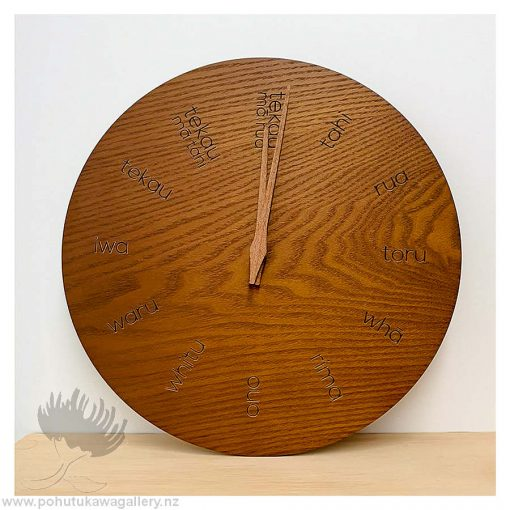 New Zealand clock Te Reo clock