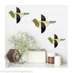 Printed ACM Birds Set: Folk Fantail