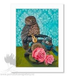 Angie Dennis Be Kind Matted Art Print Ruru NZ