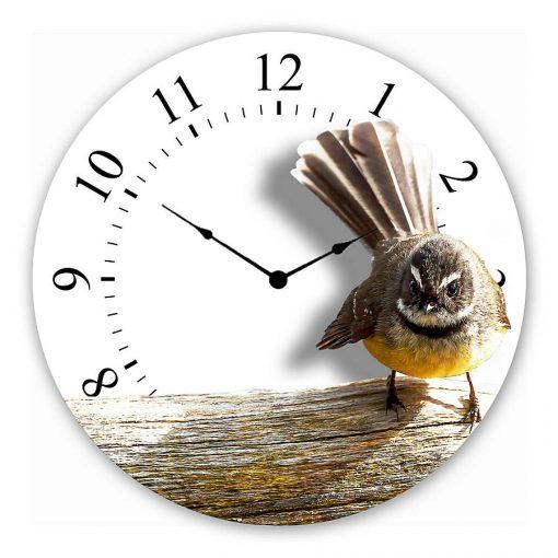 Fantail Wall clock new zealand art gift