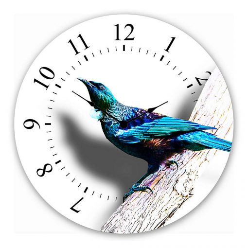 tui Wall clock new zealand art gift