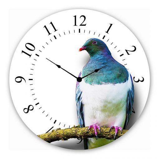 wood pigeon Wall clock new zealand art gift