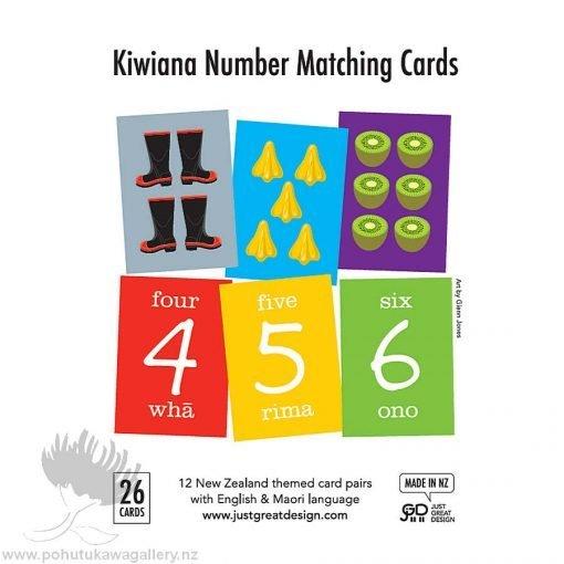 FLA001 Kiwiana Number Matching Cards- Designed by NZ Artist Glenn Jones