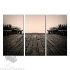 Kirk O'Donoghue Triple Canvas Print - mount Maunganui mayor island