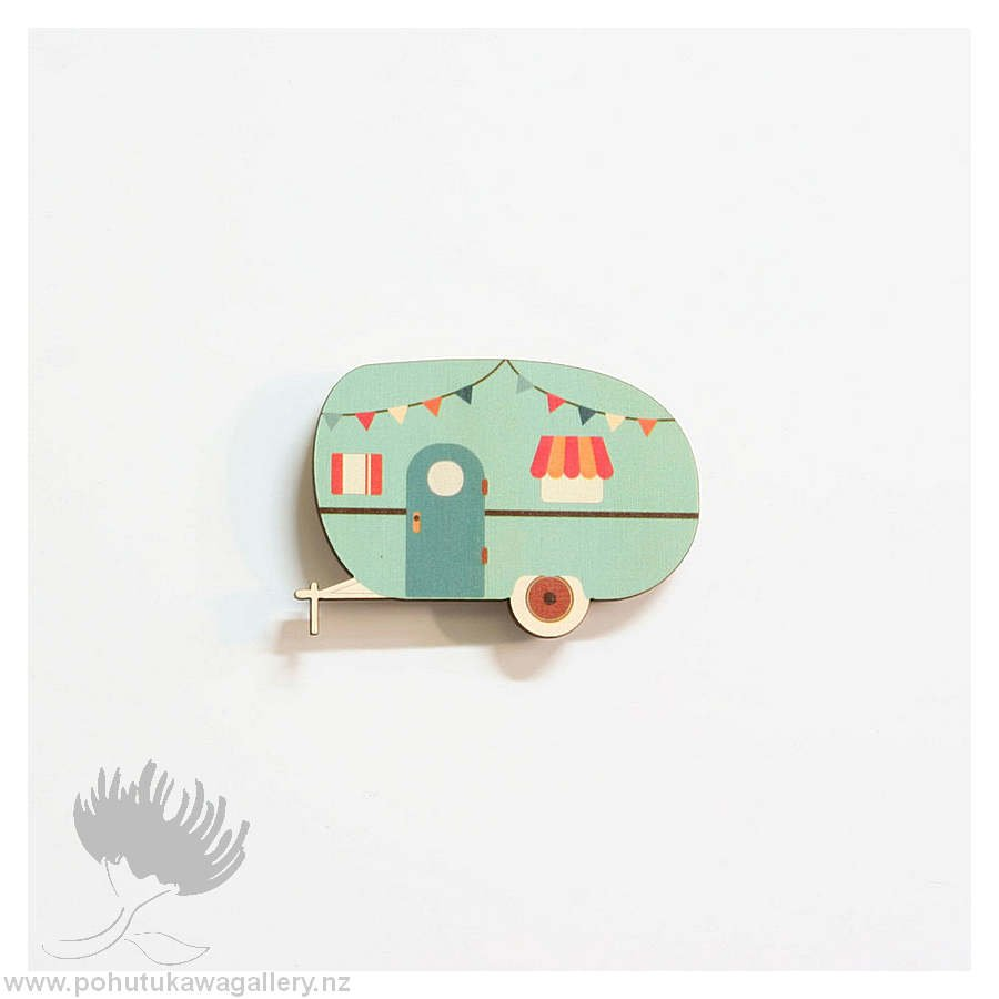 Printed pine caravan