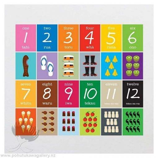Kiwiana Number Matching Cards- Designed by NZ Artist Glenn Jones