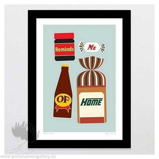glenn-jones-art-art-print-a4-print-black-frame-a-taste-of-kiwi