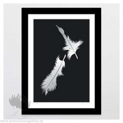 glenn-jones-art-art-print-a4-print-black-frame-feathers