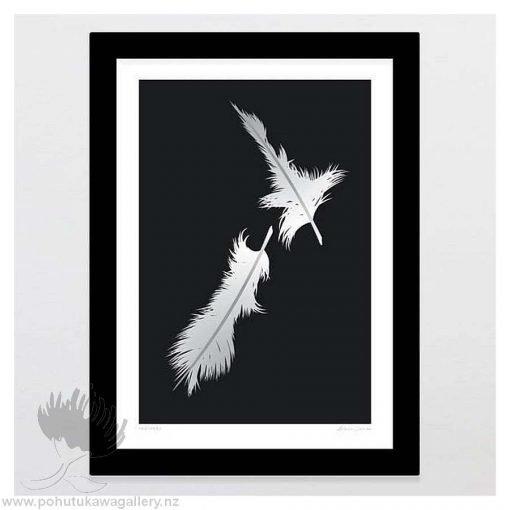 glenn-jones-art-art-print-a4-print-black-frame-feathers