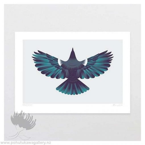glenn-jones-art-art-print-a4-print-unframed-forest-flight