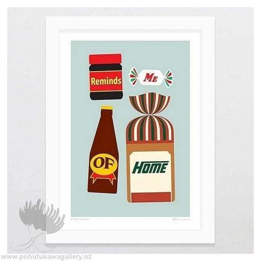 glenn-jones-art-art-print-a4-print-white-frame-a-taste-of-kiwi