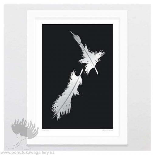 glenn-jones-art-art-print-a4-print-white-frame-feathers