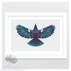 glenn-jones-art-art-print-a4-print-white-frame-forest-flight