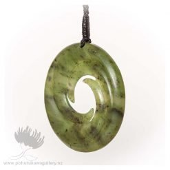NZ Greenstone Pendant by Darren Stowe - Triple Spiral 2