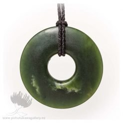 NZ Greenstone Pendant by Darren Stowe - Teething Ring