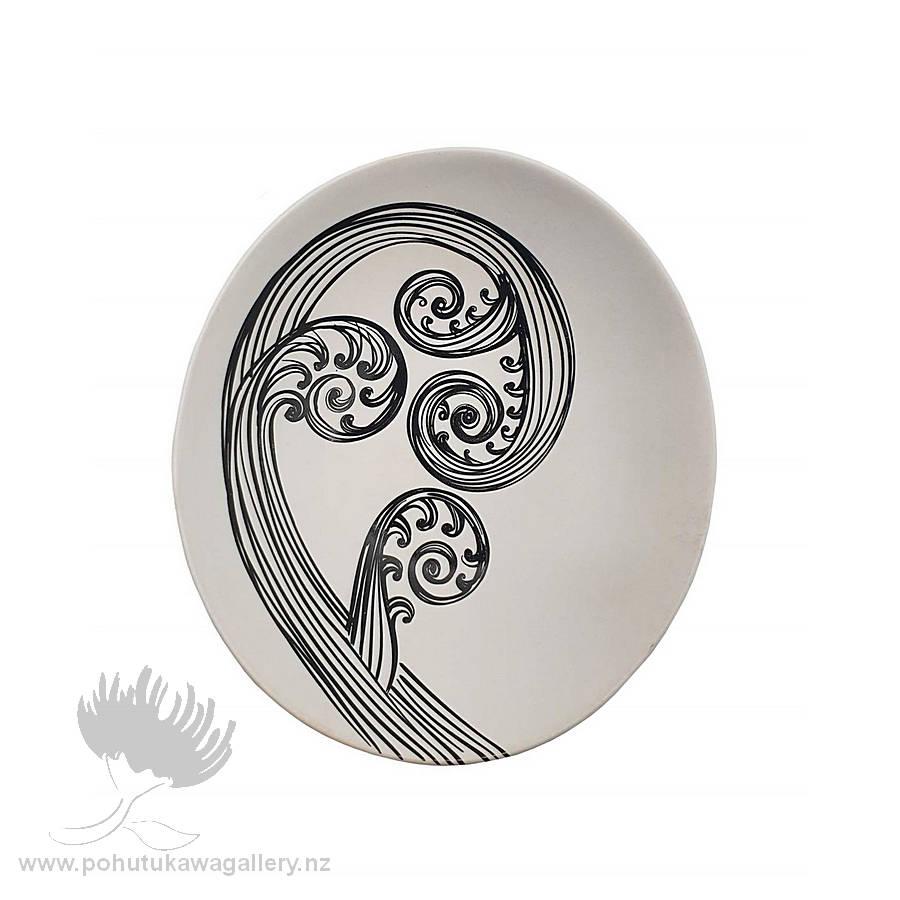 Jo Luping Design - Black Ponga Detail On White