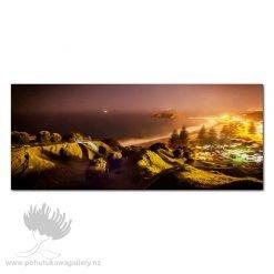 Kirk O'Donoghue Canvas Print - Misty Mount Night