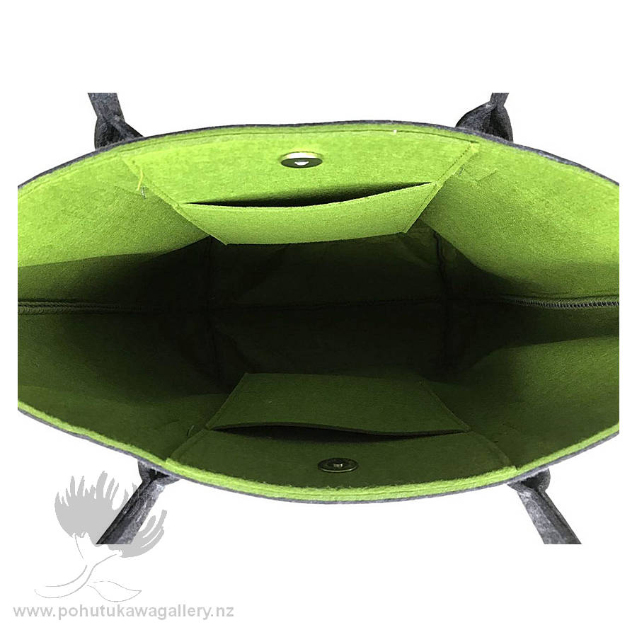 Ponga Green & Grey - Shoulder Tote Bag