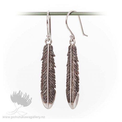 Earrings Fantail Feather