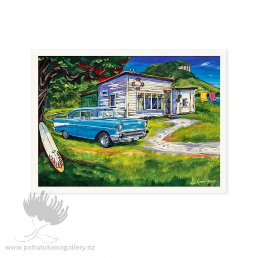 Chevy Summer (detail) by Caren Glazer - Notecards New Zealand
