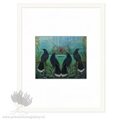 Gatherings Of Past by Kathryn Furniss - Art Prints New Zealand White