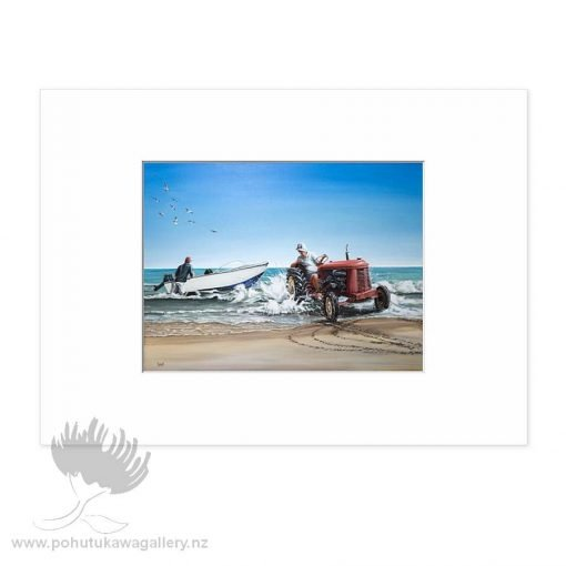 Launching The Boat by Graham Young - Art Prints New Zealand