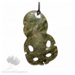 NZ pounamu Greenstone necklace Tiki
