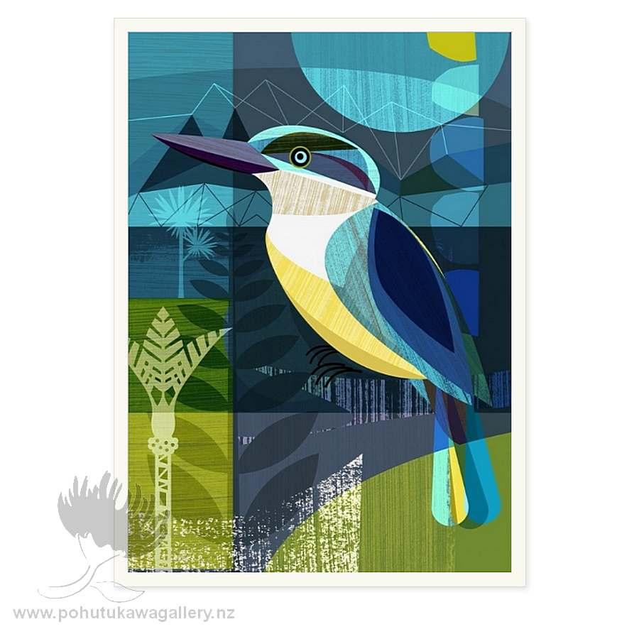 New Zealand Kingfisher by Ellen Giggenbach - Art Prints New Zealand