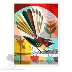 Piwakawaka In The Evening Sun by Ellen Giggenbach - Art Prints New Zealand