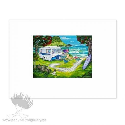 Seaside Holiday by Caren Glazer - Art Prints New Zealand