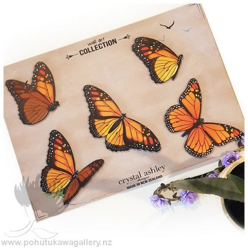 Crystal Ashely Butterflies Monarch Butterfly set of 5