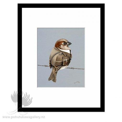 Sparrow Guard by Bonnie Fraser - Art Prints New Zealand