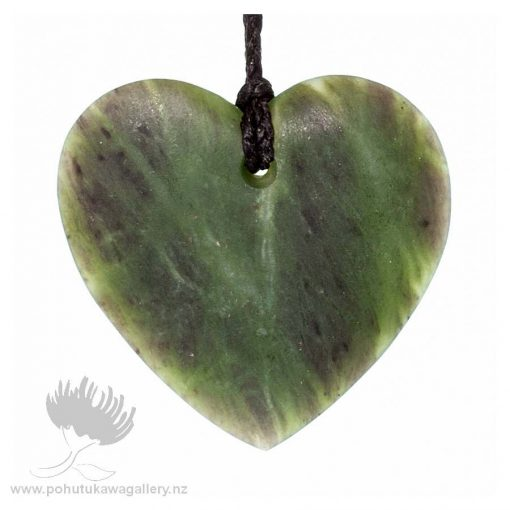 NZ Greenstone Heart