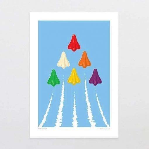 glenn-jones-art-art-print-red-leader