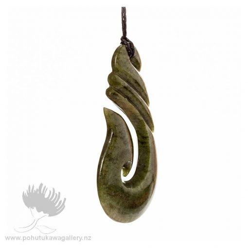 NZ pounamu Greenstone necklace Hook