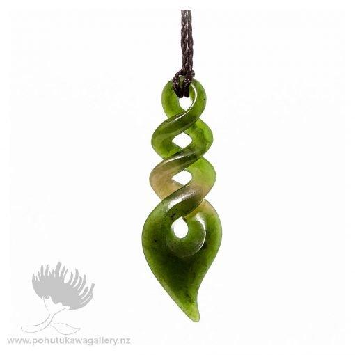 NZ pounamu Greenstone necklace TRIPLE TWIST