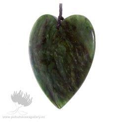 New Zealand Ponamu Greenstone Heart