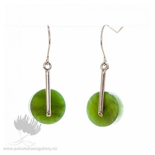 New Zealand Ponamu Greenstone earrings