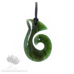 New Zealand Ponamu Greenstone Chunky Hook