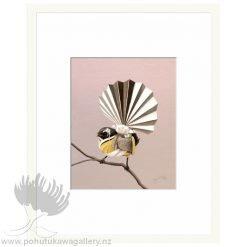 NZ Fantail Geisha by Bonnie Fraser - Art Prints New Zealand NZ
